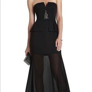 BCBG Max Caitlyn Strapless Embellished Bodice Gown